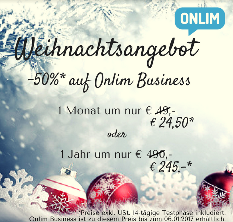 Aktion Onlim Business -50%