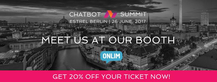 Chatbot Summit - 20percentoff