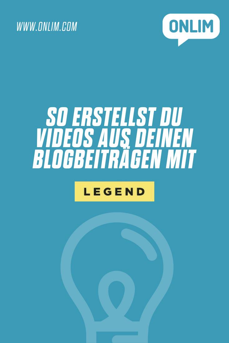 Die Video-Konsumation wächst stetig. Wir erklären wie du ganz einfach Videos aus deinen Blogbeiträgen mit LEGEND erstellen kannst.