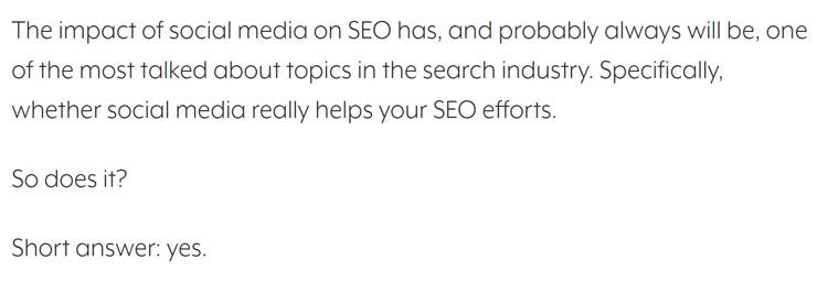 Impact of social media on SEO