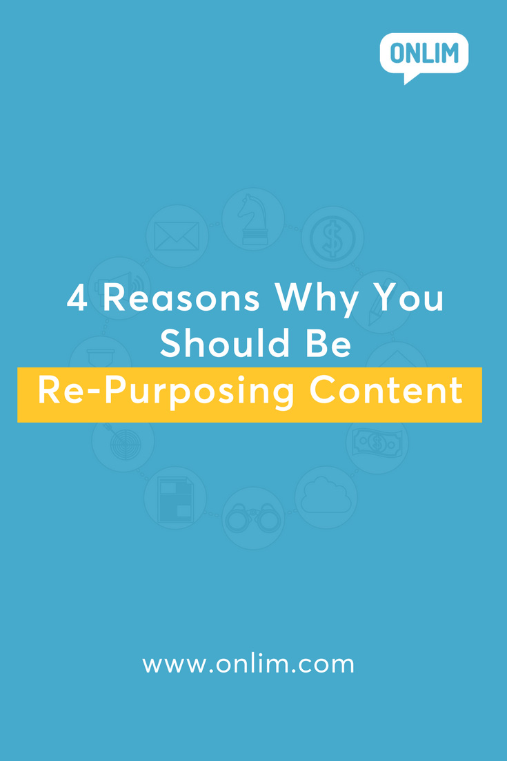 Creating the right content format for differen social media sites is a time-consuming task. Here are 4 reasons why you should be re-purposing content.