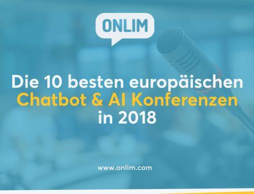 Die 10 besten europäischen Chatbot & AI Konferenzen in 2018