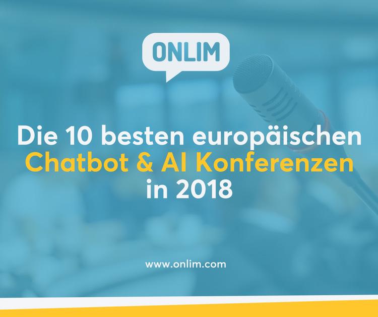 Die besten europäischen Chatbot & AI Konferenzen