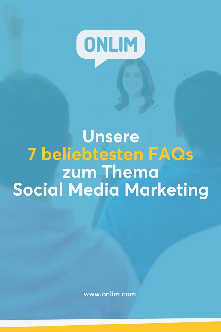 Social Media Marketing ist gerade für kleine und mittlere Unternehmen oft eine Herausforderung. Wir haben sieben der beliebtesten FAQs zum Thema für euch beantwortet!