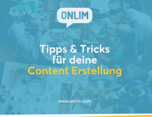 Tipps & Tricks für deine Content Erstellung