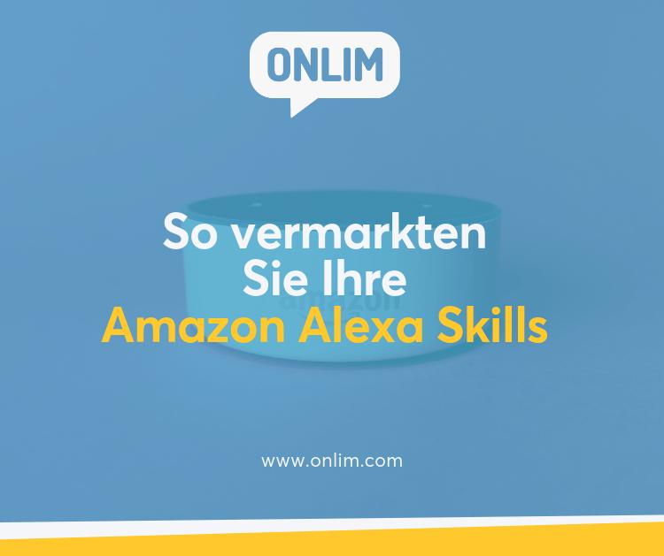 Amazon Alexa Skills vermarkten