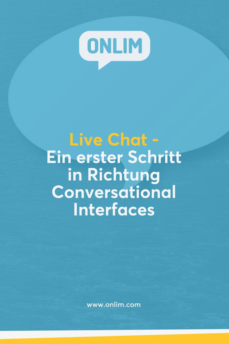 Live-Chat ist ein erster Schritt in Richtung Conversational Interfaces und bietet gerade für kleine und mittlere Unternehmen viele Vorteile.