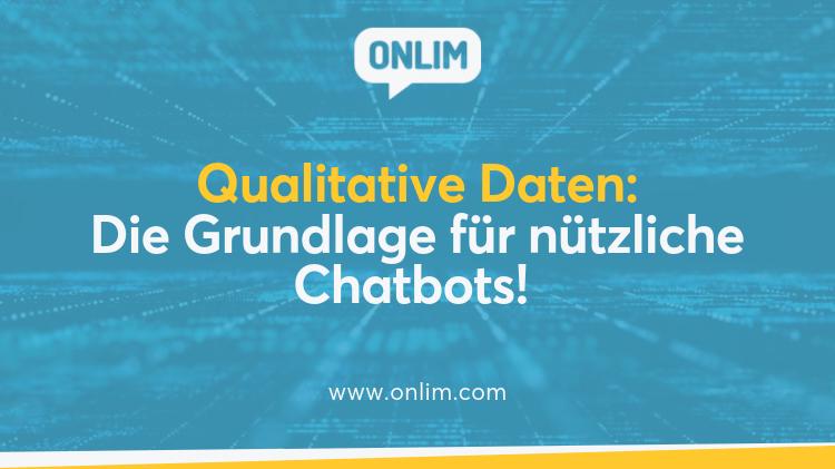 Qualitative Daten für Chatbots