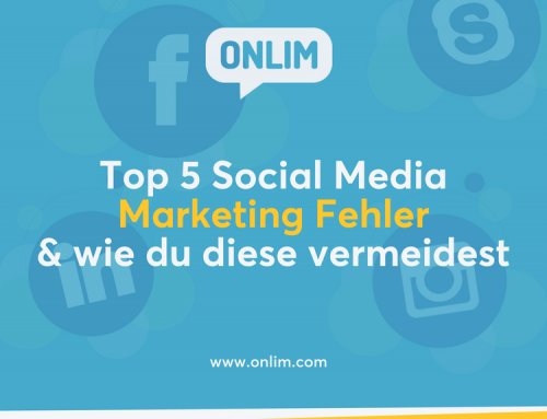 Top 5 Social Media Marketing Fehler & wie du diese vermeidest