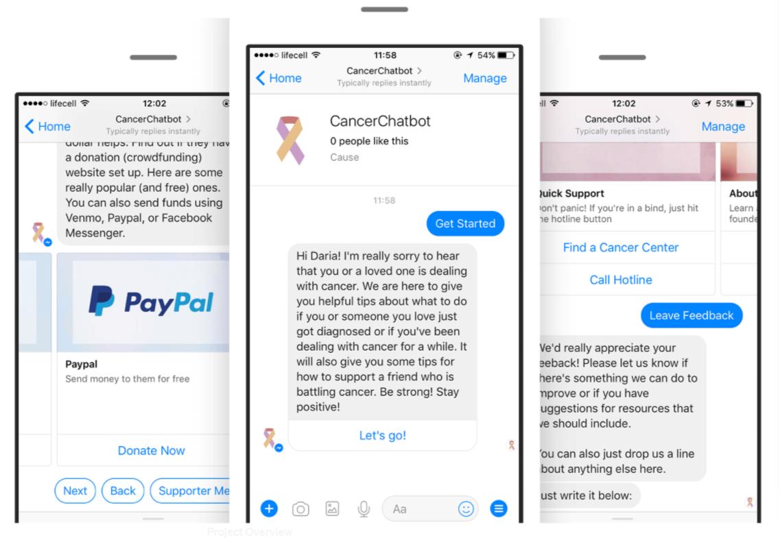 healthcare chatbots - cancerchatbot