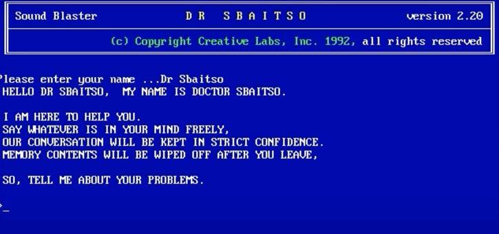 History of Chatbots - Dr Sbaitso