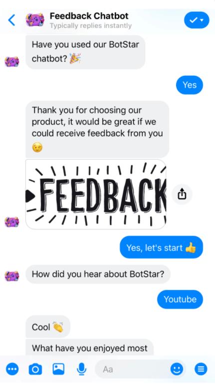 feedback chatbot