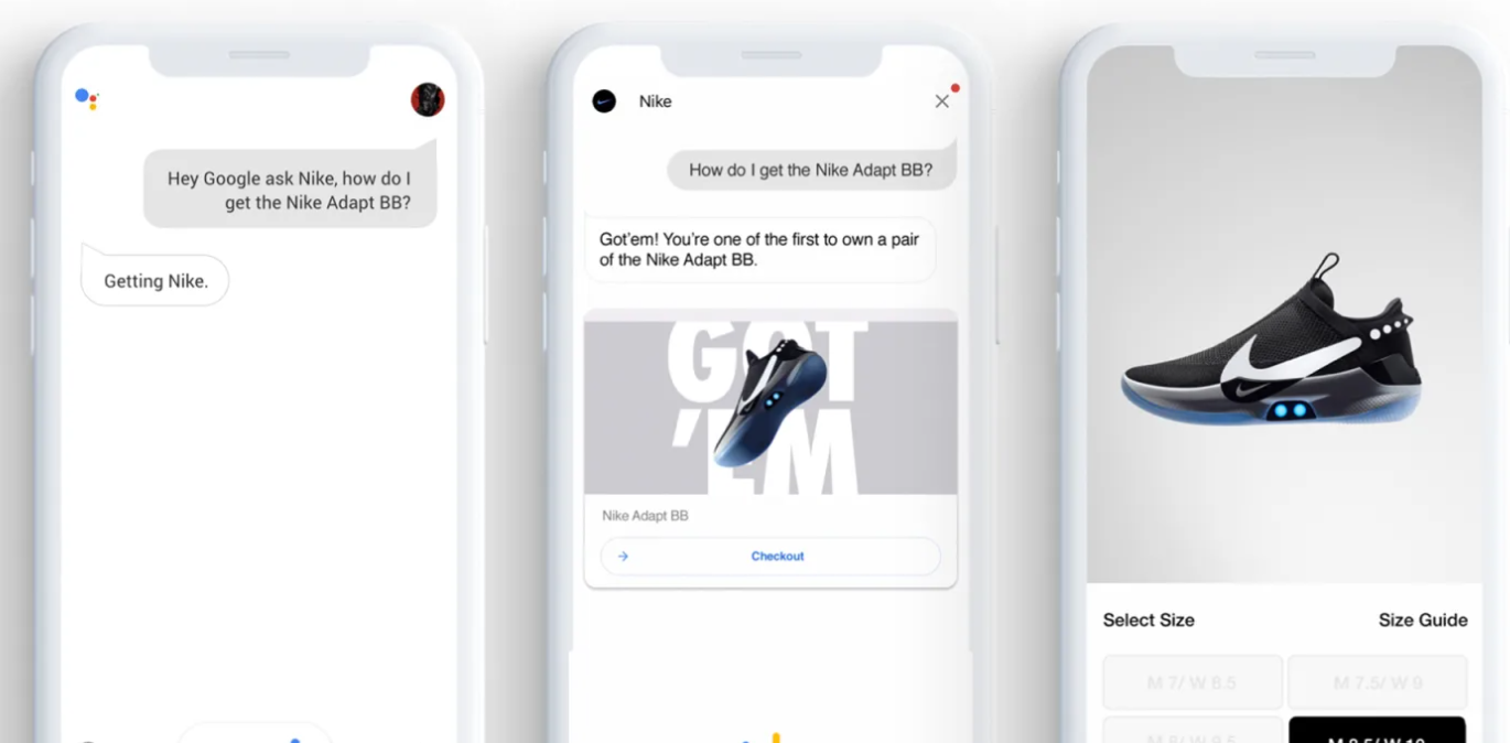 Voice technology in online retail - Nike