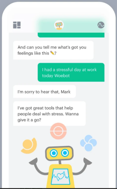 healthcare chatbots - woebot